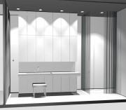 Vonios baldai, dušas, ūkinė spinta ir angokraštis-radiatorius